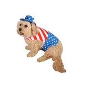 Stars & Stripes Patriot Dog Costume Sz S